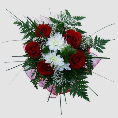 Букеты своими руками из роз и хризантем